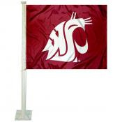 Washington State Cougars Logo Car Flag