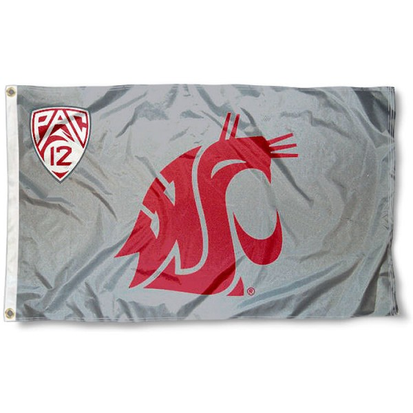 Washington State Cougars Pac 12 Flag