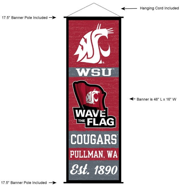 Washington State Cougars Wall Banner and Door Scroll