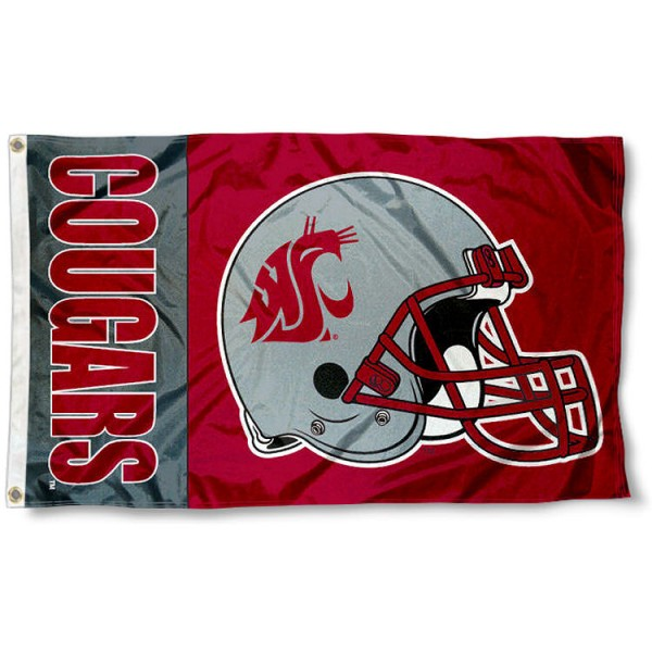 Washington State Football Helmet Flag