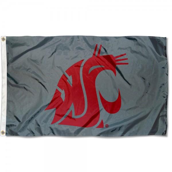 Washington State University Cougar Grey Flag