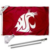 Washington State Wave the Flag and Bracket Flagpole Kit