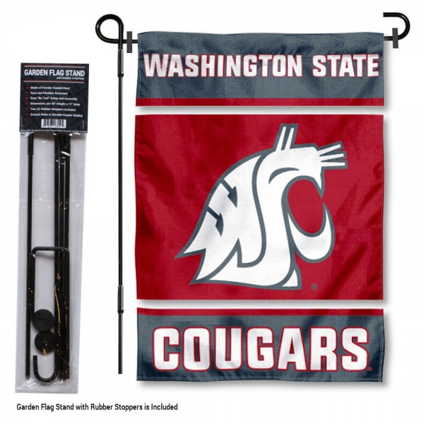 Washington State WSU Garden Flag and Holder