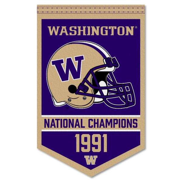 Washington UW Huskies College Football National Champions Banner