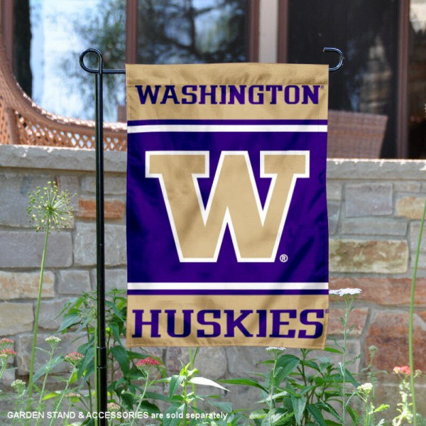 Washington UW Huskies Garden Flag