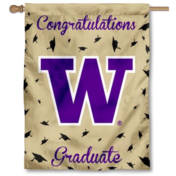 Washington UW Huskies Graduation Banner