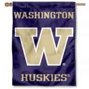 Washington UW Huskies House Flag