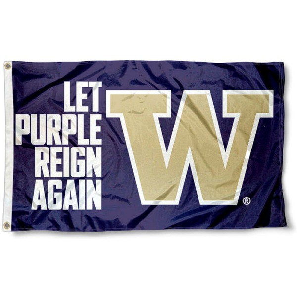 Washington UW Huskies Purple Reign Again Flag
