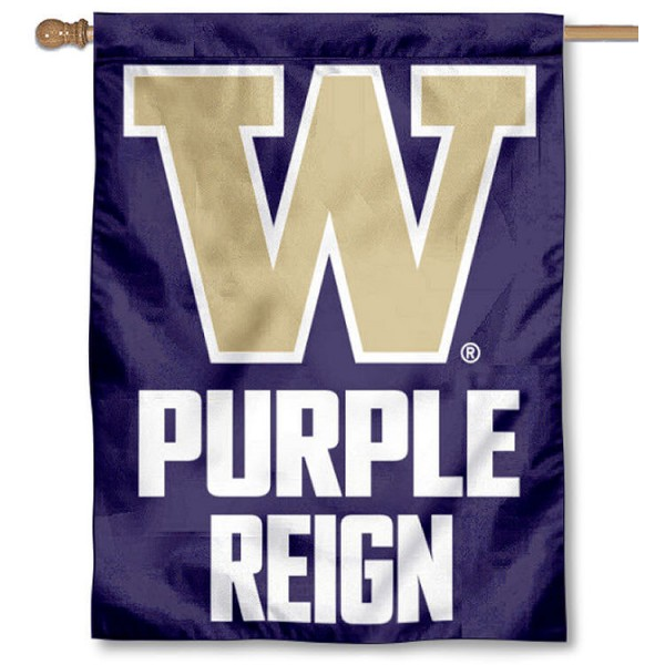 Washington UW Huskies Purple Reign House Flag