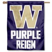 Washington UW Huskies Purple Reign House Flag