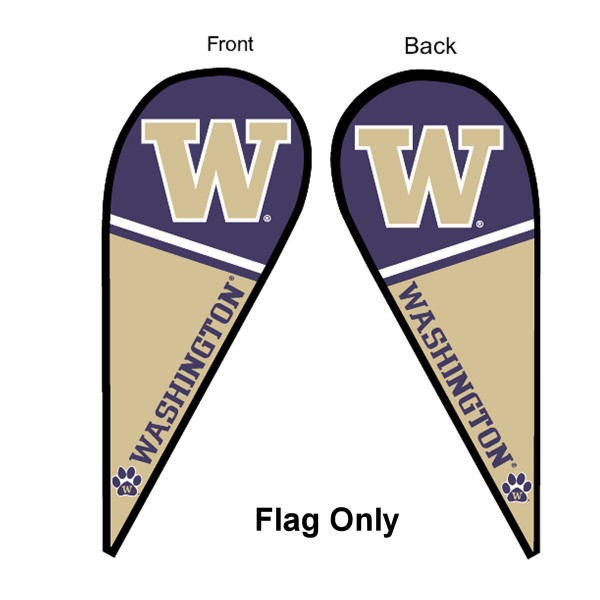 Washington UW Huskies Teardrop Flag