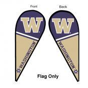 Washington UW Huskies Teardrop Flag