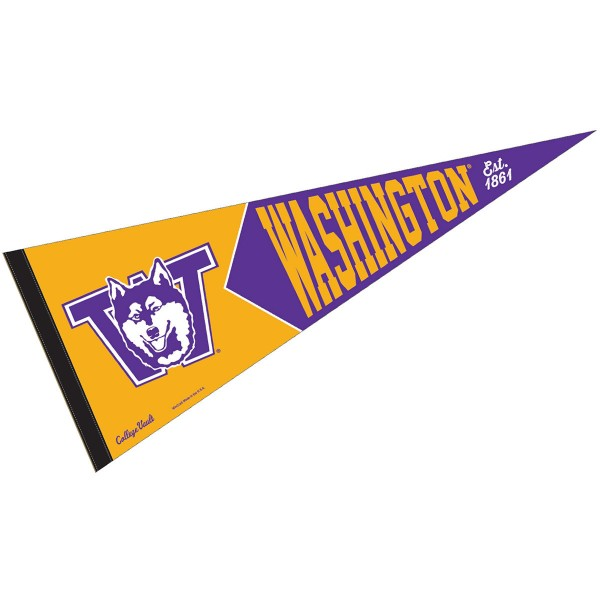 Washington UW Huskies Vault Logo Pennant