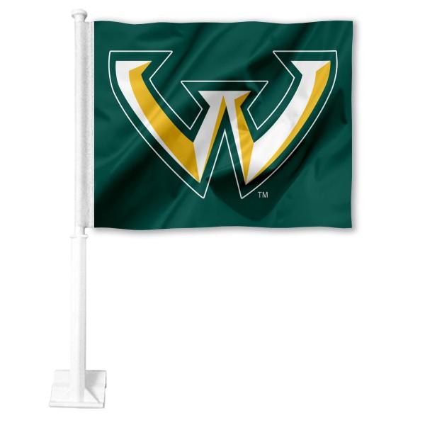 Wayne State Warriors Car Flag