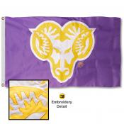 WCU Golden Rams Appliqued Nylon Flag