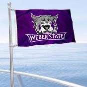Weber State Wildcats Boat Nautical Flag