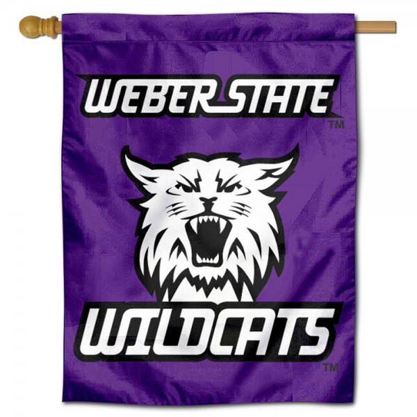 Weber State Wildcats Vintage House Flag