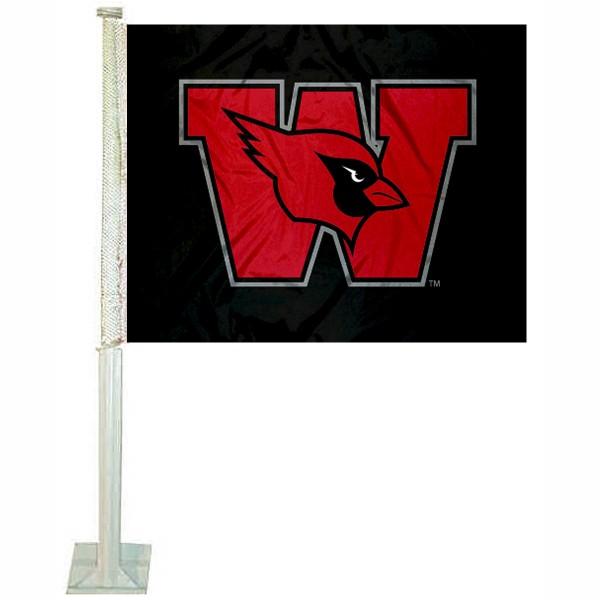 Wesleyan Cardinals Car Flag