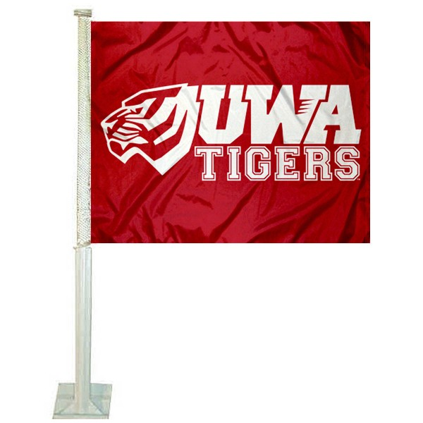West Alabama Tigers Logo Car Flag