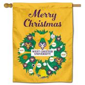 West Chester Golden Rams Christmas Holiday House Flag