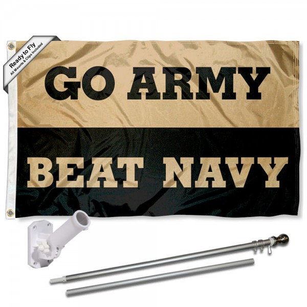 West Point Beat Navy Flag and Bracket Flagpole Kit