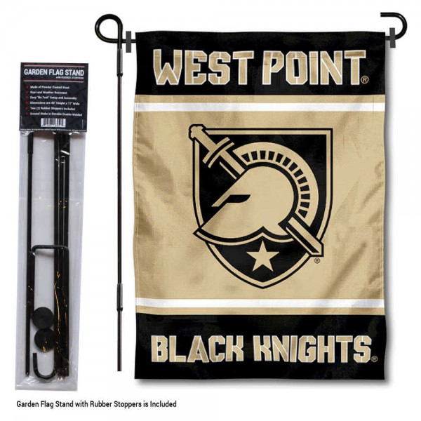 West Point Garden Flag and Yard Pole Holder Set