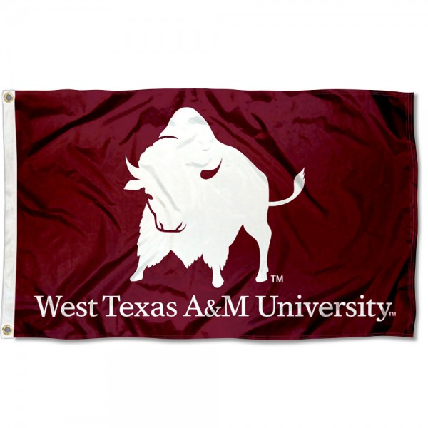 West Texas A&M Buffaloes Logo 3x5 Foot Flag