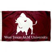 West Texas A&M Buffaloes Logo 3x5 Foot Flag