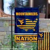 West Virginia Mountaineers Nation Garden Flag