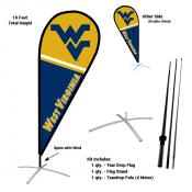 West Virginia Mountaineers Teardrop Flag and Stand Kit