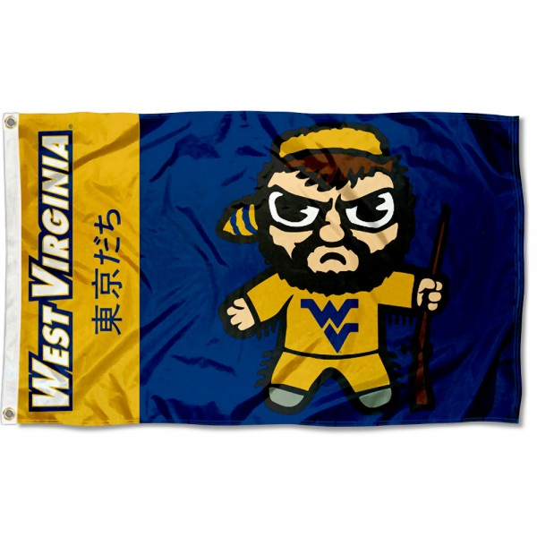 West Virginia Mountaineers Tokyodachi Cartoon Mascot Flag