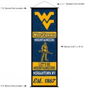 West Virginia Mountaineers Wall Banner and Door Scroll
