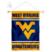 West Virginia Mountaineers Window Hanging Banner with Suction Cup