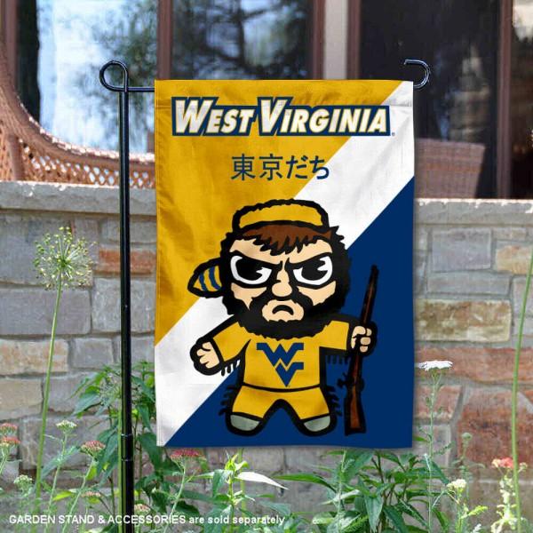 West Virginia Mountaineers Yuru Chara Tokyo Dachi Garden Flag