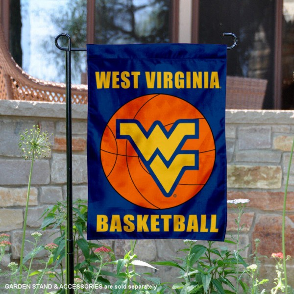 West Virginia University Basketball Garden Flag