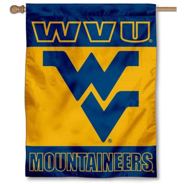 West Virginia University Logo House Flag