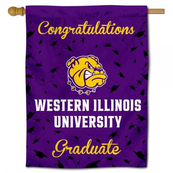 Western Illinois Leathernecks Graduation Banner