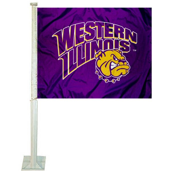 Western Illinois Leathernecks WIU Car Flag