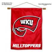 Western Kentucky Hilltoppers Banner with Pole