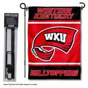 Western Kentucky University Garden Flag and Yard Pole Holder Set