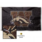 Western Michigan Broncos Appliqued Sewn Nylon Flag
