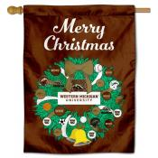 Western Michigan Broncos Christmas Holiday House Flag