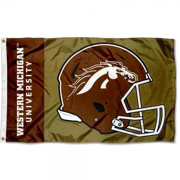 Western Michigan Broncos Helmet Flag