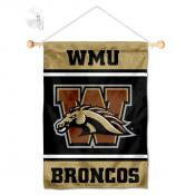 Western Michigan Broncos Window Hanging Banner with Suction Cup