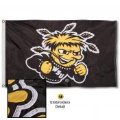 Wichita State Shockers Appliqued Nylon Flag