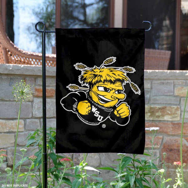 Wichita State Shockers Black Garden Flag