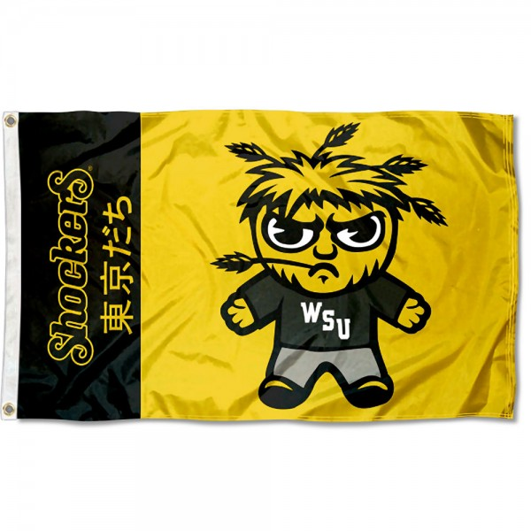 Wichita State Shockers Tokyodachi Cartoon Mascot Flag
