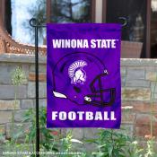 Winona State Warriors Football Garden Flag