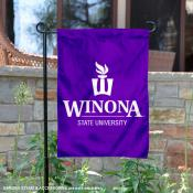 Winona State Warriors University Logo Garden Flag