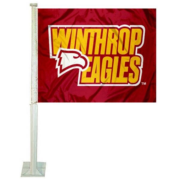 Winthrop WU Eagles Car Flag